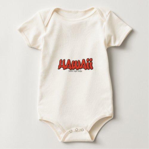 Hawaii Graffiti Baby Bodysuit