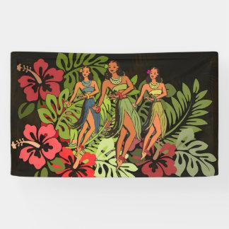 Hawaii Graphic Art Print Tropical Banner