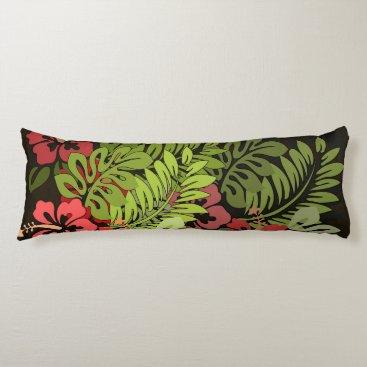 Beach Themed Hawaii Graphic Art Print Tropical Body Pillow
