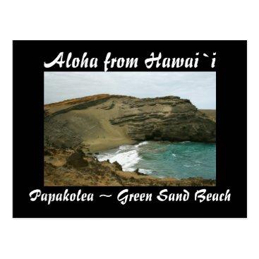 Beach Themed Hawaii Green Sand Beach Postcard