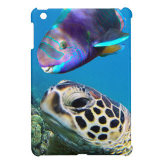 Hawaii Green Sea Turtle and Parrot Fish Case For The iPad Mini