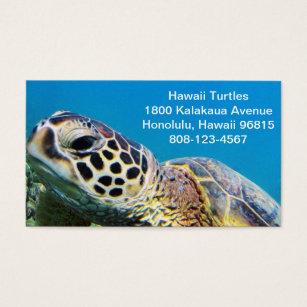 Hawaii business cards templates zazzle hawaii green sea turtle business card reheart Gallery