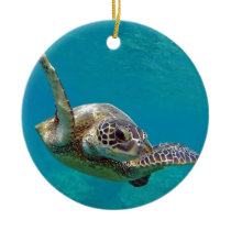 Hawaii Green Sea Turtle - Honu Ceramic Ornament