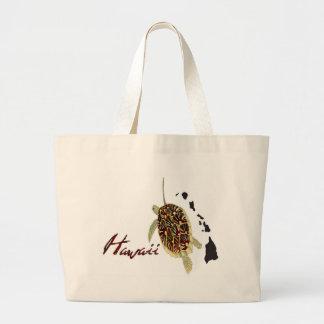 Hawaii Green Sea Turtle Large Tote Bag