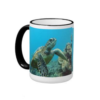 Hawaii Green Sea Turtle Ringer Mug