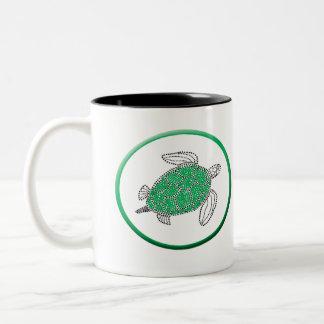 Hawaii Green Sea Turtle Two-Tone Coffee Mug