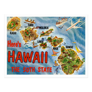 Hawaii Greetings From US States Postcard