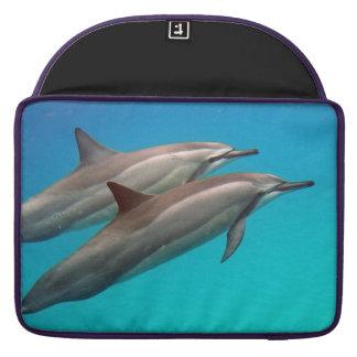 Hawaii Hanauma Bay Manta Ray and Dolphins MacBook Pro Sleeve