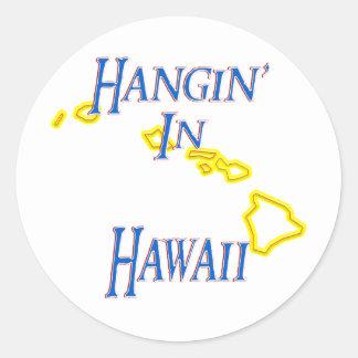 Hawaii - Hangin Etiqueta Redonda