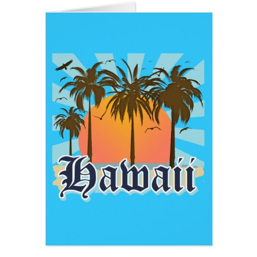 Hawaii Hawaiian Islands Sourvenir Greeting Cards