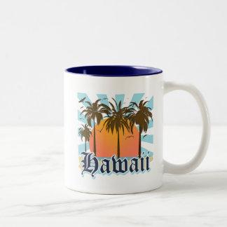 Hawaii Hawaiian Islands Sourvenir Two-Tone Coffee Mug
