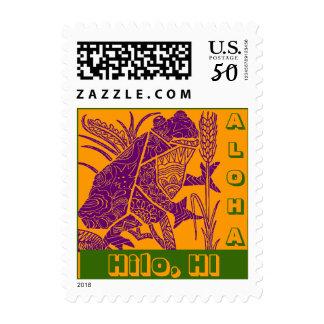 Hawaii Hawaiian Travel HI Frog Stamps Coqui Coquis