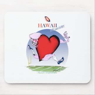 hawaii head heart, tony fernandes mouse pad