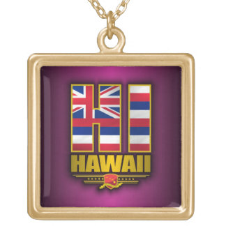 Hawaii (HI) Gold Plated Necklace