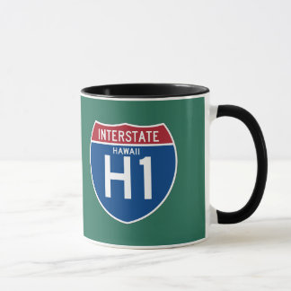 Hawaii HI I-H1 Interstate Highway Shield - Mug