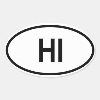"""Hawaii """"HI"""" Oval Sticker"""