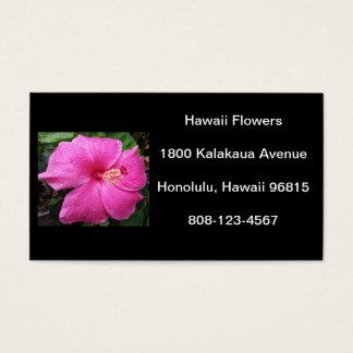 Hawaii Hibiscus Flower Business Card
