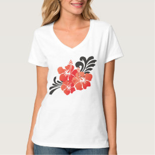 Hibiscus Flowers T Shirts T Shirt Design Printing Zazzle