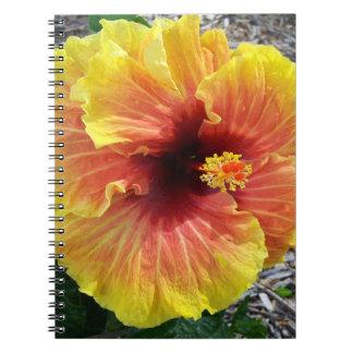 Hawaii Hibiscus Flowers Spiral Notebook