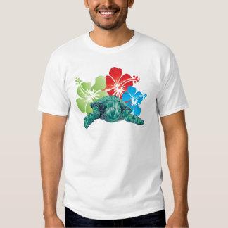 Hawaii Hibiscus Turtle T Shirt