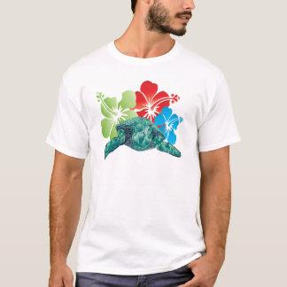 Hawaii Hibiscus Turtle T-Shirt