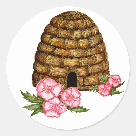 hawaii hive classic round sticker