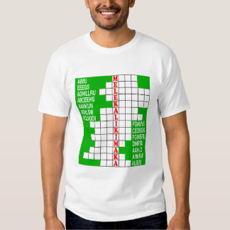 Hawaii Holidays Word Scramble T-Shirt