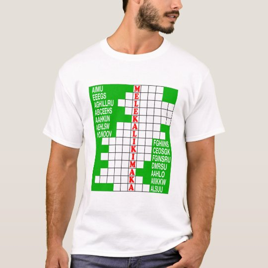 Hawaii Holidays Word Scramble T-Shirt