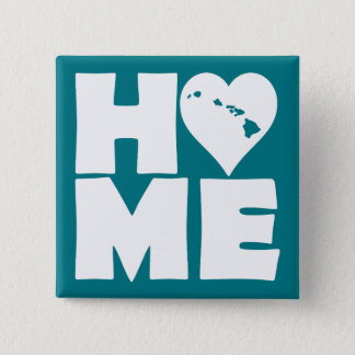 Hawaii Home Heart State Button Badge Pin