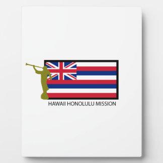 HAWAII HONOLULU MISSION LDS CTR DISPLAY PLAQUES