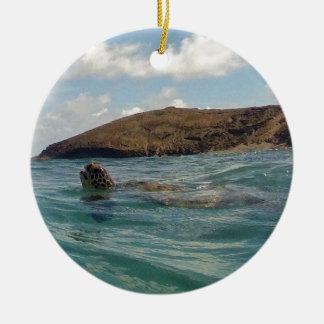 Hawaii Honu Ceramic Ornament
