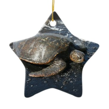 Beach Themed Hawaii Honu Christmas Ceramic Ornament