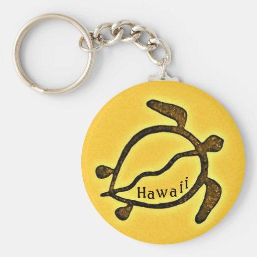 Hawaii Honu Sea Turtle Basic Round Button Keychain