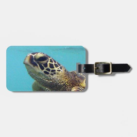 Hawaii Honu Turtle Bag Tag