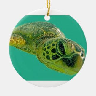 Hawaii Honu Turtle Ceramic Ornament