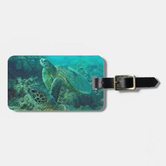 Hawaii Honu Turtles Luggage Tag