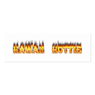 Hawaii Hottie Fire and Flames Business Card Templates