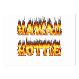 Hawaii Hottie Fire and Flames Business Card