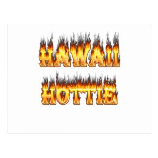 Hawaii Hottie Fire and Flames Postcard