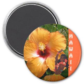 Hawaii Hula Girl Hibiscus Magnet
