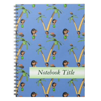 Hawaii Hula Girl Journal Notebook