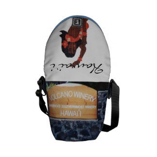 Hawaii Hula Girl Volcano Winery Courier Bags