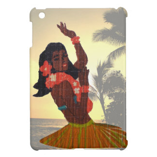 Hawaii Hula Girl with Beach Palm Tree Cover For The iPad Mini