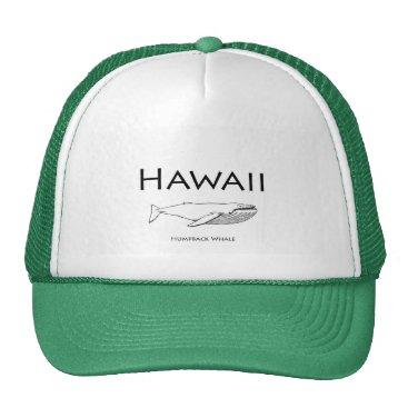 USA Themed Hawaii Humpback Whale Trucker Hat