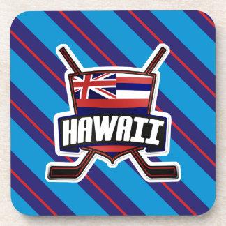 Hawaii Ice Hockey Flag Logo Cork Coasters