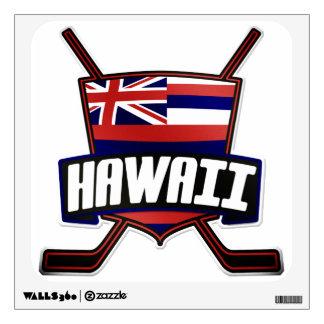 Hawaii Ice Hockey Flag Logo Wall Decal