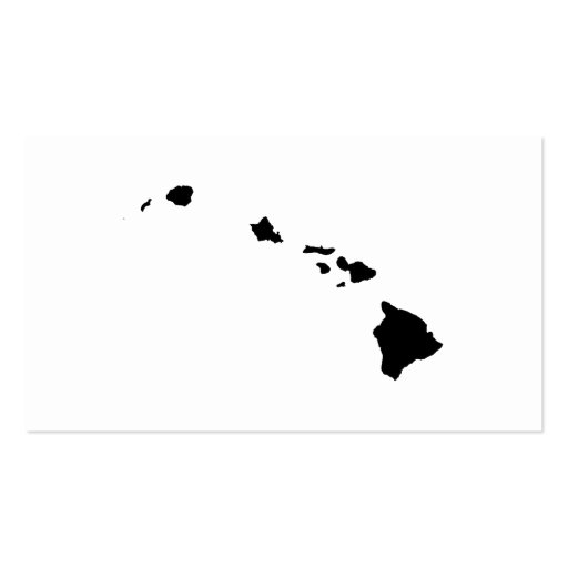 Hawaii in Black and White Business Card