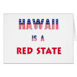 Hawaii is a Red State Greeting Card