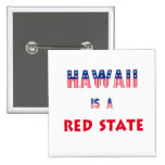 Hawaii is a Red State Pin