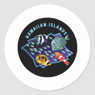Hawaii Is. Reefers Classic Round Sticker